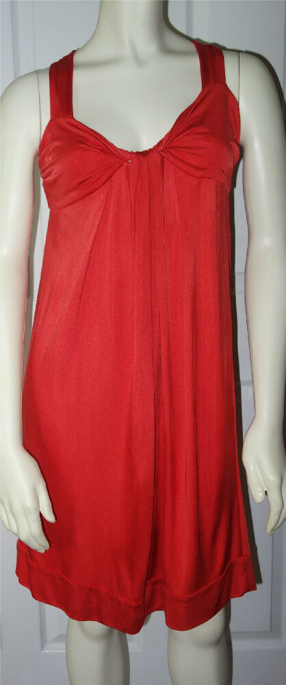 DVF Diane Von Furstenberg Größe 12 Twist Knot Front Dress Drapey Summer Beach 12