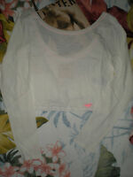 Hollister L/s Soft Jack Creek Beach Top L/s White Large Or Med More Sizes