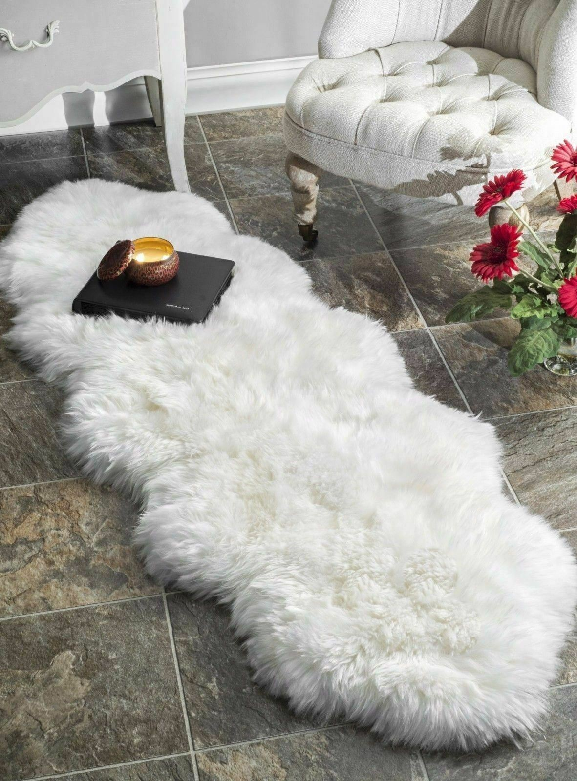 Picture of: Windward Natural Sheepskin Area Rug In Gray 721653 For Sale Online Ebay