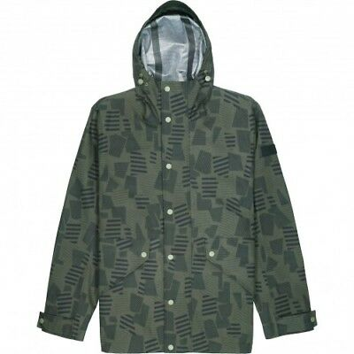 Farah Mens Butcher Print Jacket in Vintage Green       gt1