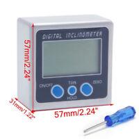 Digital Bevel Box Gauge Angle Protractor Finder Inclinometer w/ Magnetic Base