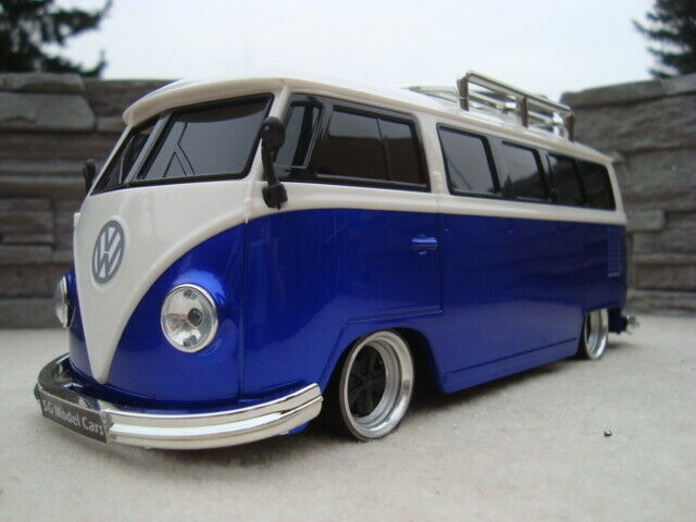 1 18 VW T1 Party Bus Tiefer Tuning Fuchs Echt Alu Felgen Radio USB MP3 SD LED BT
