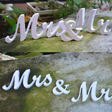 New Mr and Mrs White Letter Sign Freestanding Top Table Wedding Decoration Prop