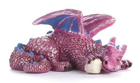 Fairy Garden Mini Sleeping Dragon With Glowing Orb