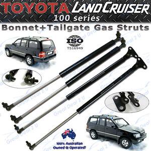Image is loading Bonnet-Tailgate-Gas-Struts-for-Toyota-Landcruiser-100-  sc 1 st  eBay & Bonnet +Tailgate Gas Struts for Toyota Landcruiser 100 Series FZJ ...