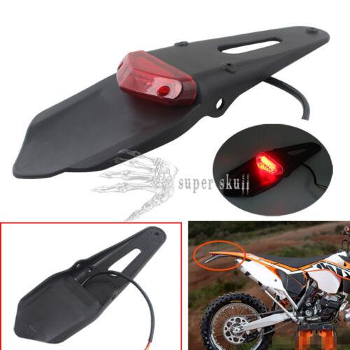LED Rear Fender Brake Tail Light Motorbike Enduro Trials Trail Bike DRZ400 Red