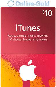 Itunes 10 Us Dollar Prepaid Guthaben Karte 10 Usd Apple Store