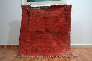 Moroccan-Handmade-Vintage-Rug-Tribal-Berber-rug-3-039-8-034-x4-039-3-034-Bohemian-wool-red-rug