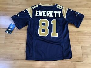 new concept 88263 7574a Details about Gerald Everett Los Angeles Rams Nike On Field Football Jersey  Kids Small