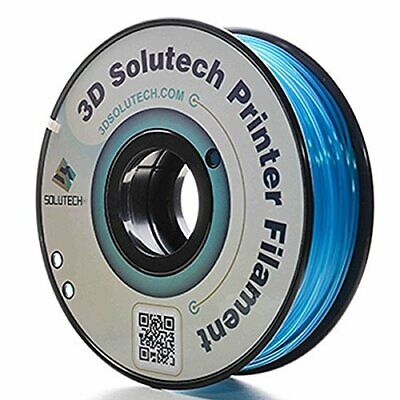 3D Solutech See Through Blue Printer PLA Filament 1.75MM 2.2 LBS 1.0 KG /&