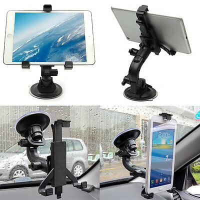 New 360°Car Windshield Suction Cup Mount Bracket Stand Holder for Tablet Black