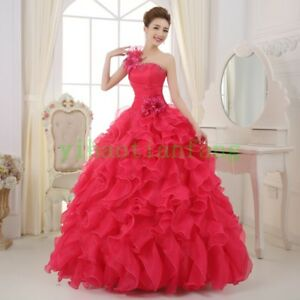 Women-Quinceanera-Party-Ball-Gown-Full-Length-Prom-Lace-Wedding-Dress-Fashion