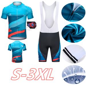 MTTHT Fahrradtrikot Rennrad Atmungsaktiv Fahrrad Trikot Gel Lätzchen Shorts Sets