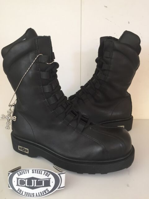 STIVALI CULT N 36 BOOT PELLE COLL 2015 2016 UOMO DONNA BOUNTHY BLACK