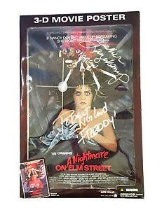 Freddy Krueger Nancy Thompson figurine d'action Nightmare On Elm Street signée à la main