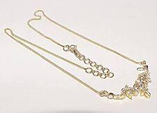 """$5,190 18KY Gold F/G-VVS Diamond Reversible LAVALIERE Multi-Way Necklace 17"""""""
