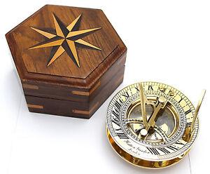 8c8572967dc2 Brújula Y Reloj De Sol De Latón – Antigüedad Brújula Reloj Solar con ...