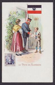 Kunzli-mint-PPC-La-Poste-en-Allemagne-German-Mail-carrier-stamp-flag-fresh