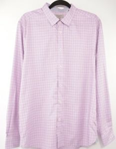 5be82cb7ca98 Image is loading TED-BAKER-Men-039-s-Purple-Checked-Shirt-