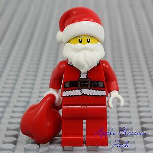 Lego Sack lego santa claus minifig present sack white beard