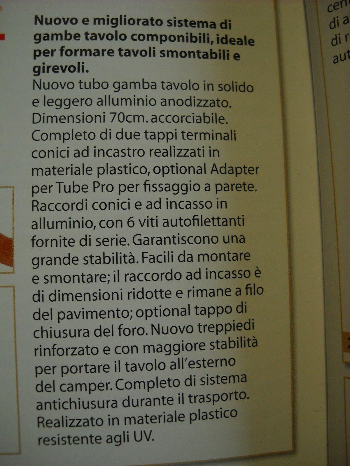 FIAMMA    TABLE LEGS  NUOVO GAMBO TAVOLO COMPONIBILE PER CAMPER   CARAVAN E BARCHE ff138e