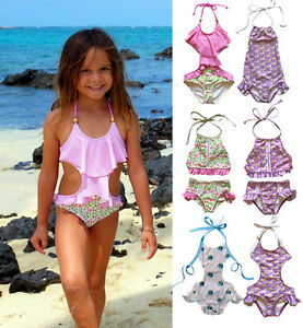 95fe60f36f83b Image is loading Toddler-Kids-Girl-Swimwear-Bikini-Tankini-Swimming-Costume-