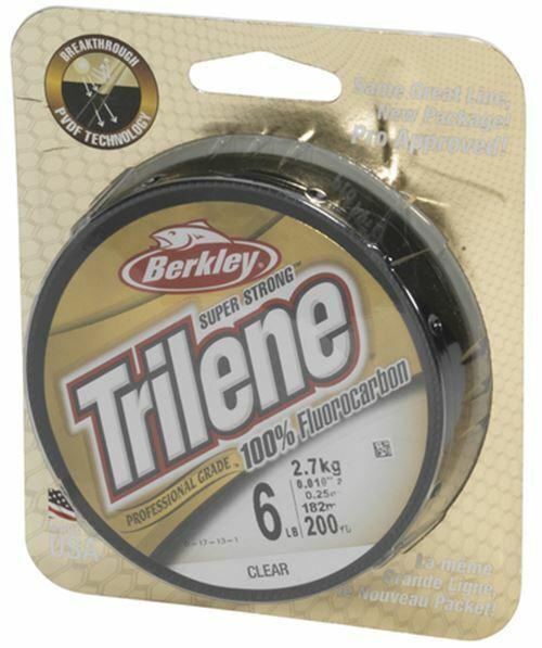 verschiedene Stärken Vorfachmaterial Berkley Trilene Clear Fluorcarbon 25m
