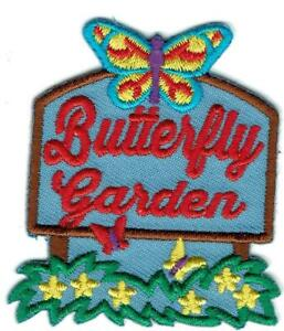Girl Cub BUTTERFLY GARDEN House Visit Fun Patches Crest Badges Butterflies Scout