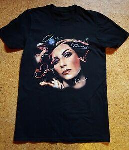 Cher-T-Shirt-Schwarz-Damen-Groesse-S