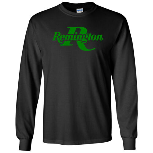Remington Green Logo Long Sleeve Shirt 2nd Amendment Pro Gun Tee Rifle Shotgun