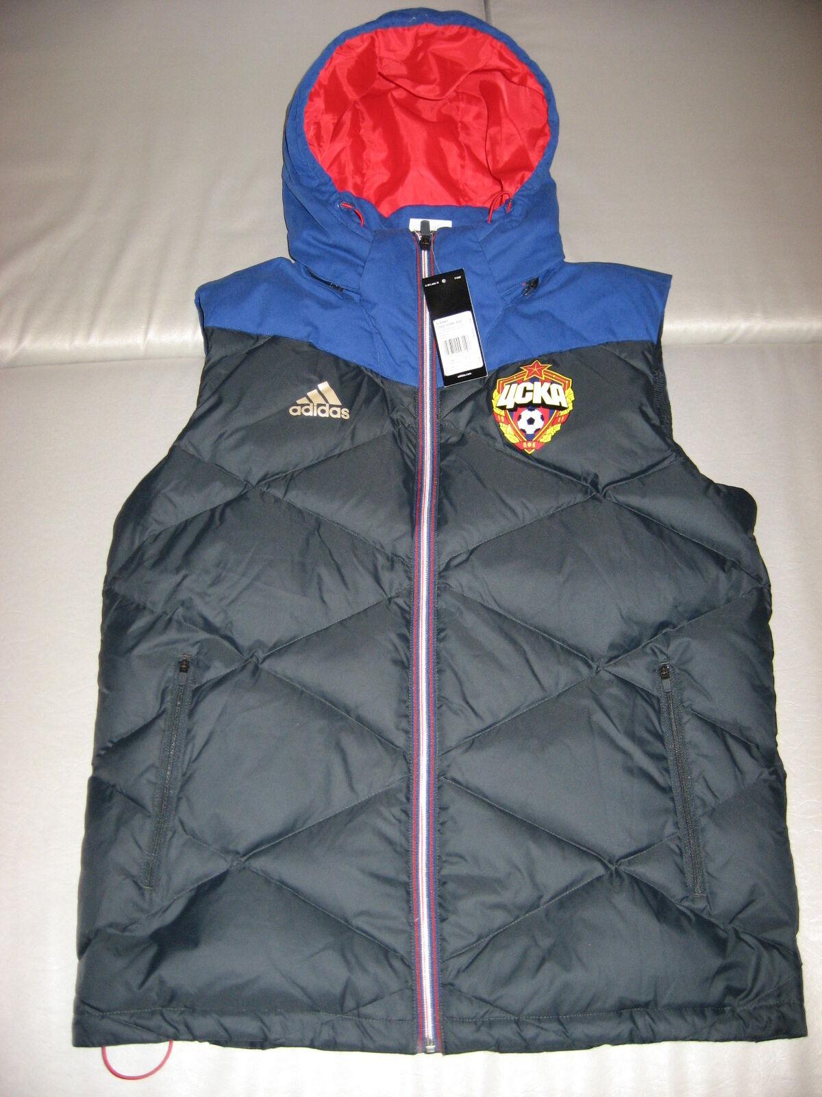 Nuevo Con Etiquetas Adidas CSKA Moscú XS S Abajo Chaleco Chaqueta de fútbol de rara de Rusia