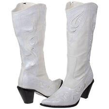 Ladies Western Wedding White Formal Sequin Cowboy Boot (Size 6-12)