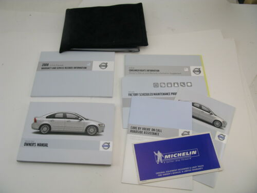 Volvo S40 2008 08 Owners Manual Cover Set Book OEM Handbook Free Shipping