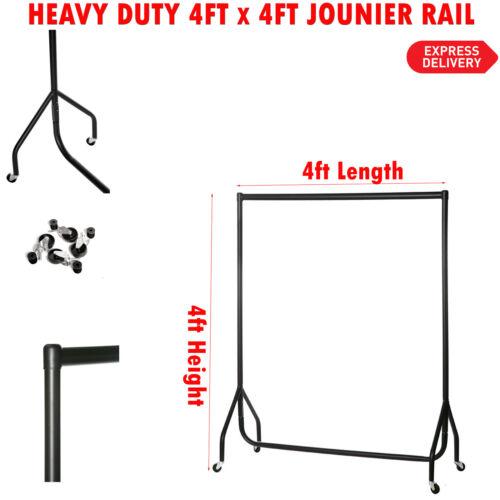 NEW 4ftx4ft HEAVY DUTY CLOTHES GARMENT DRESS SHOP DISPLAY RAIL STAND RACK METAL