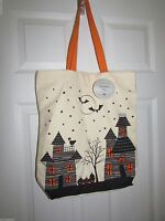 Halloween Haunted House Grocery Shopping Tote By Dii Durable Canvas Tote