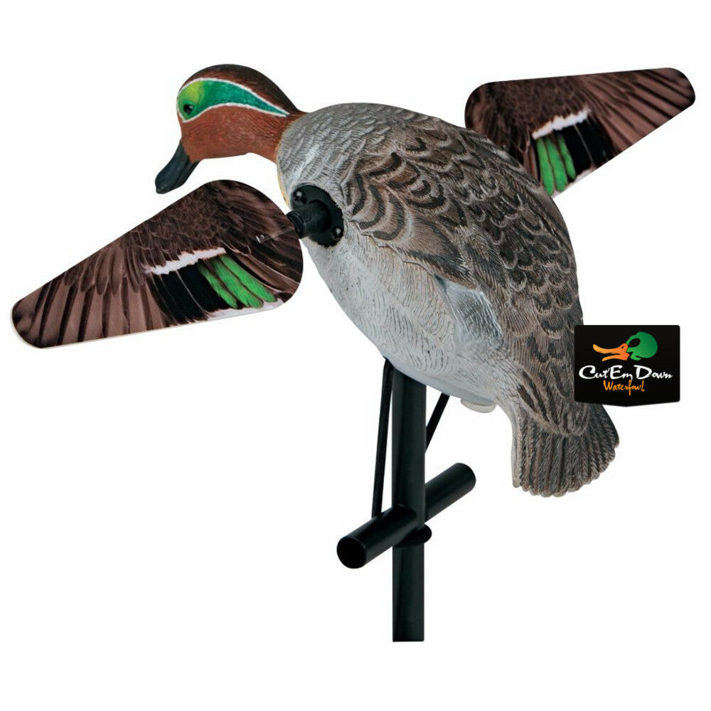 LUCKY DUCK EXPIDITE LUCKY TEAL HD Spinning EDGE ala movimiento Pato Señuelo
