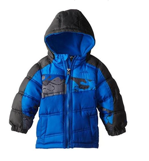 b221f5eca8473 Pacific Trail Baby Boys Coat 12 Months Puffer Jacket Camo Black Blue 12 MTHS