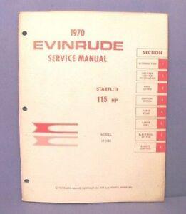 original 1970 evinrude starflite 115 hp outboard motor factory rh ebay com Starflite Wichita KS HVAC Design Manual