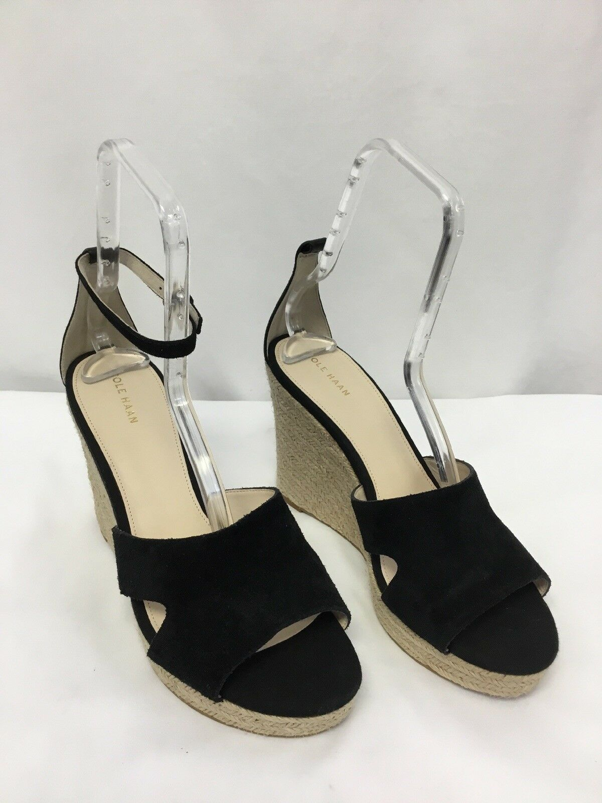 Cole Haan Giselle Hi Espadrille Wedge Sandal nero  Missing Strap Dimensione 10.5B