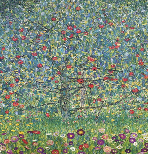 greeting card Apple tree by Klimt print on 230gsm photo paper size 14.5cm x 21
