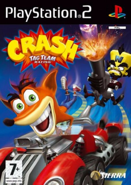 CRASH TAG TEAM RACING PS2 PlayStation 2 Shooting Video Game UK Release