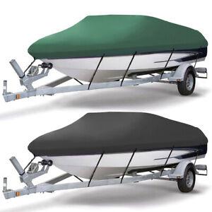 11-22FT Waterproof Heavy Duty Trailerable Boat Cover Anti-UV V-hull Protector