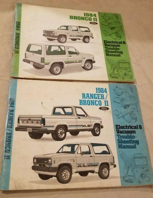 1984  Ford Ranger    Bronco Ii Electrical Vacuum Wiring Diagram Evtm Manual  84