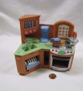Image Is Loading Fisher Price Loving Family Dollhouse Kitchen Unit W