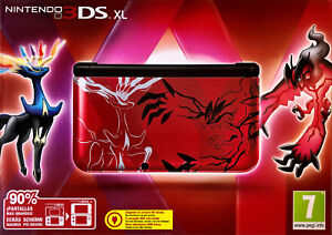 Nintendo-Console-3DS-XL-Pokemon-XY-Red-YVELTAL-Limited-Edition-ITA-PAL