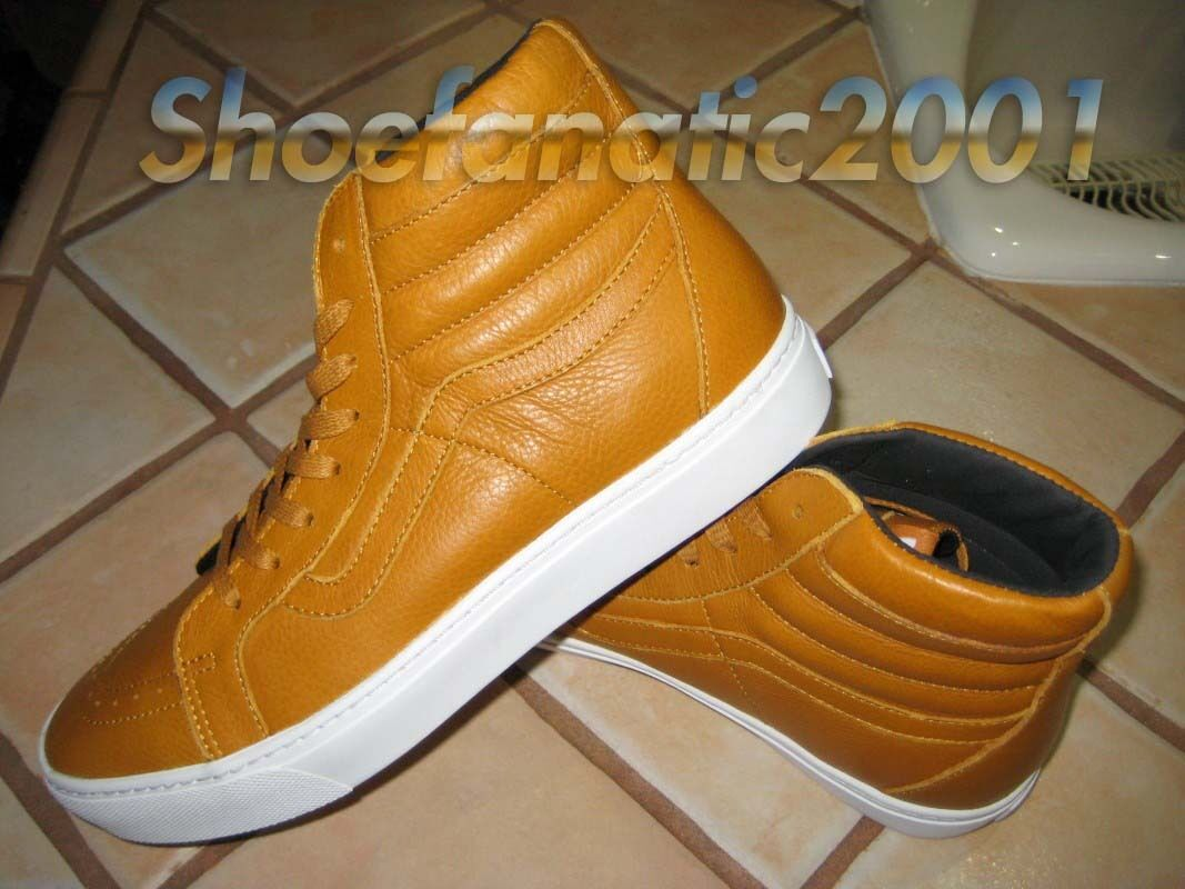 Vans Sample SK8 Hi Cup Cupsole Leather Gold Supreme Skateboarding