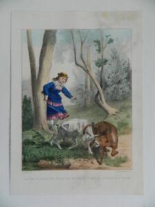 Enfantina-Gravure-couleurs-La-Chevre-Mr-Seguin-litho-Arnoul-imp-Becquet-c-1870