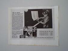 advertising Pubblicità 1940 ZEISS IKON CONTAX 24 X 36