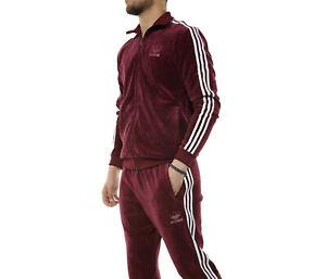puerta lengua Chaleco  Adidas Originals Beckenbauer terciopelo chándal para hombre XL-Chaqueta &  2XL-Pantalones de 1 últimos | eBay