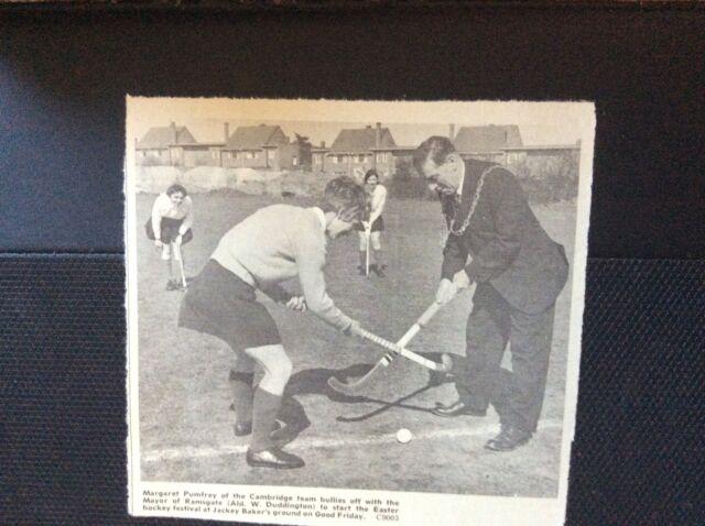 c3-2 ephemera 1950 picture hockey margaret pumfrey cambridge mayor ramsgate
